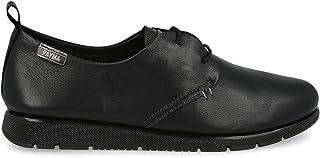 PAYMA - Sneaker Scarpe Casual Sportive Donna Piatte in Pelle. Chiusura in Pizzo. Pelle Super Flessibile. Colore Marrone, B...