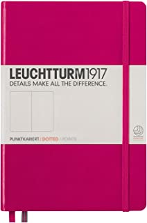 Leuchtturm1917 Medium A5 Dotted Hardcover Notebook (Berry) - 249 Numbered Pages