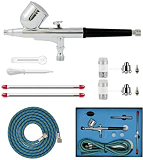 HUBEST Professional 0.2mm.3mm.5mm Dual Action Airbrush Spray Paint Gun Kit Complete Set with Hose, Nozzle, Needle for Ma...