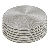 Homcomoda Runde Tischsets Set von 6 hitzebeständigem Tisch Tischsets waschbar für Küche Abendessen 38cm - 3
