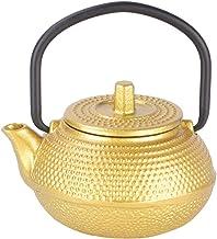 Czajniczek - mini czajniczek żelazny płaski spód czajniczek z uchwytem (złoty A)