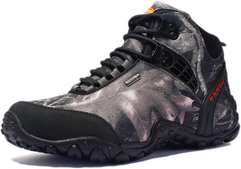 Hiking shoes Men Lightweight Walking shoes Outdoor Trekking High-top Camouflage Outdoor Breathable Waterproof Non-Slip