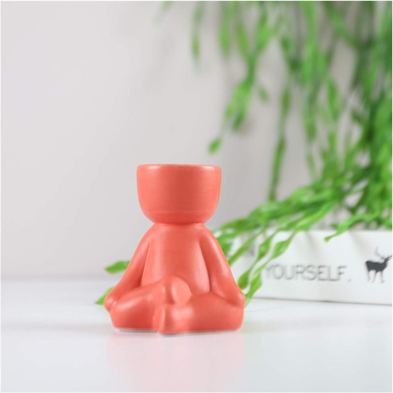 Flower San Diego Mall Max 51% OFF Pots Creative Human-Shaped Ceramic Plant Pot Mini