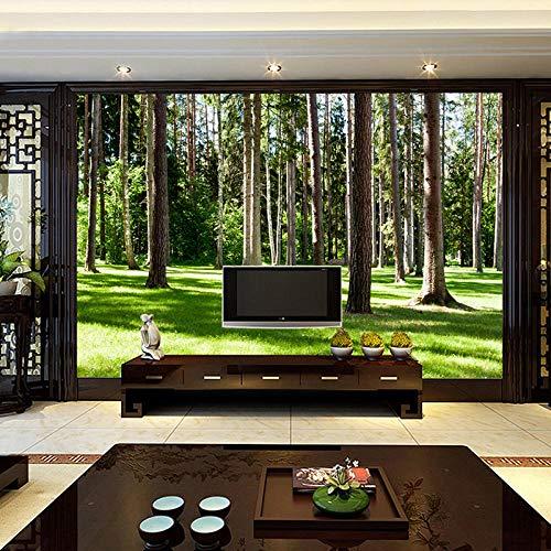 ZJfong fotobehang, muurbehang, groen, 3D, foto-achtergrond, wanddecoratie, woonkamer, sofa, bed, slaapkamer, modern 140x70cm
