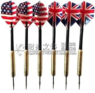 的を狙え!! 本格 ダーツ ゲーム ダーツ矢 フライト イギリス 国旗 3本 アメリカ 国旗 3本 計 6本 セット