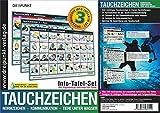Info-Tafel-Set Tauchzeichen: 3 laminierte Info-Tafeln mit über 150 Tauchzeichen für die sichere...