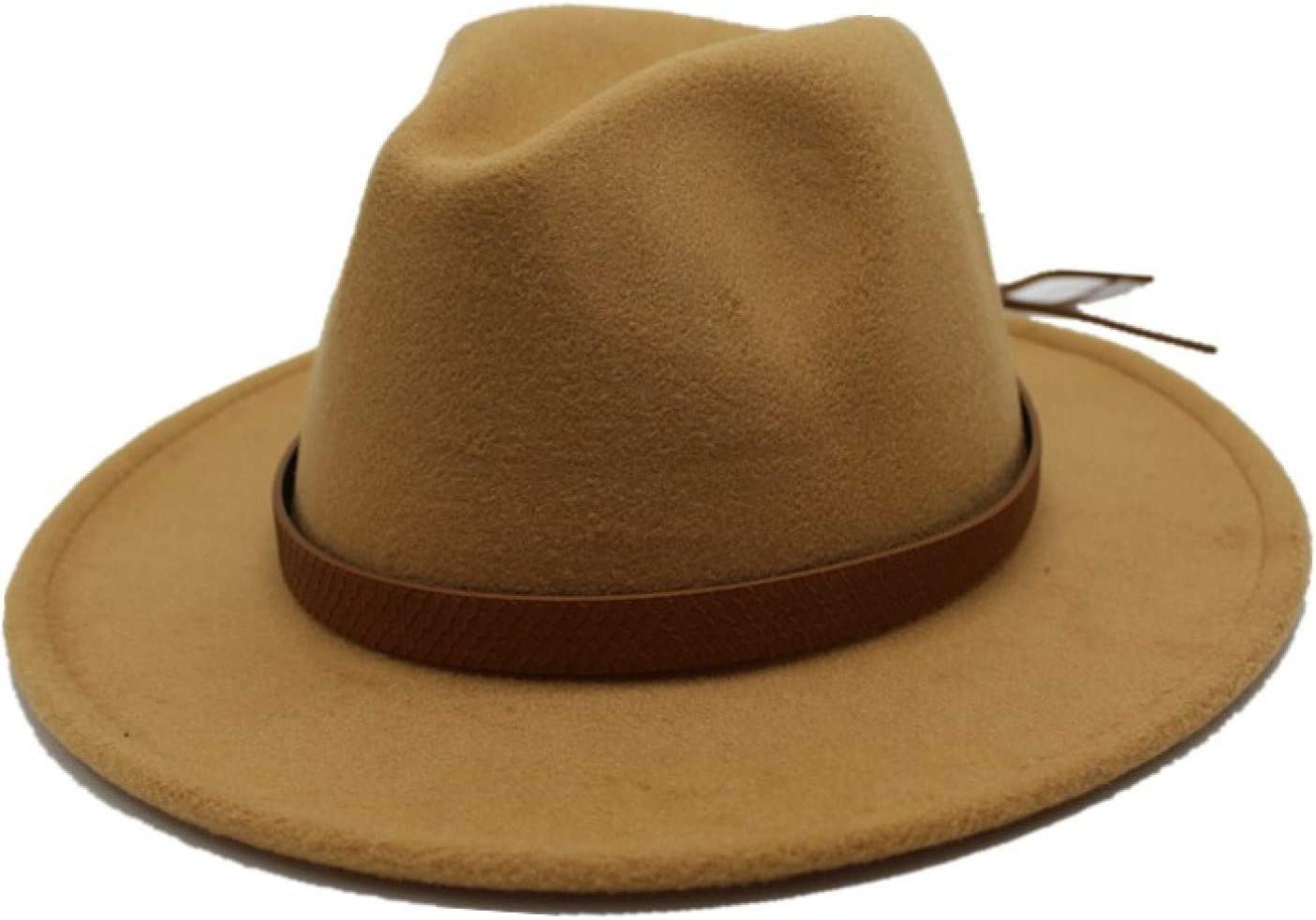 BAJIE Fedora Autumn And Winter Sun Hat Ladies And Men'S Hats Classic Wide Brim Felt Floppy Hat Floppy Hat Imitation Wool Hat
