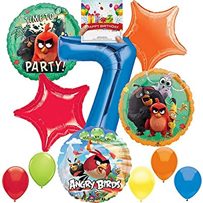 Angry Birds 2 Party Supplies Balloon Decoration Bundle for 7th Birthday