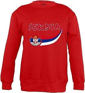 Supportershop sweatshirt Servië, uniseks, kinderen