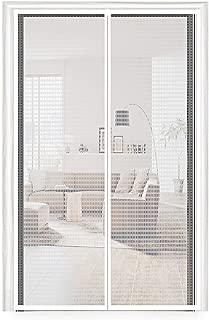 Thermal Door Screen 36X96, Temporary Door EVA Magnetic French Door Screen Plastic Door Curtain Enjoy Cool Summer & Warm Winter Fit Your Door Frame Size Up to 34x95 Inch (36x96 Inch, Transparent)