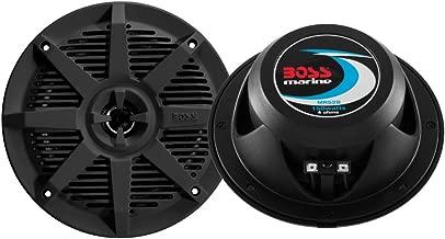 BOSS Audio Systems MR52B 150 Watt Per Pair, 5.25 Inch, Full Range, 2 Way Weatherproof Marine Speakers Sold in Pairs
