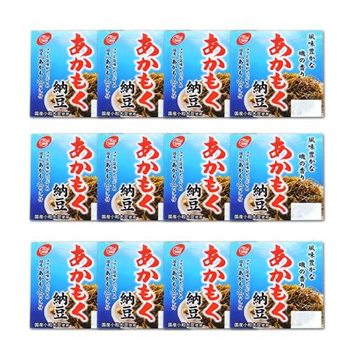 二豊フーズ ねばシャキ新食感 国産あかもく納豆 (40g×3) 12個セット 小粒大豆