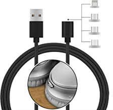 Geekria Magnetic headphone Micro USB Charging Cable for Sony WH-1000XM2, WH-CH700N, PlayStation, AKG N60NC, Y45BT, Y50BT, BOSE QC35 II, Beats Solo3, Solo2, Studio3, Studio2.0, Charge Cord (Black, 3FT)