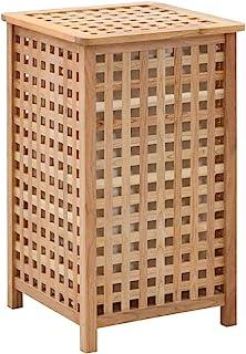 vidaXL Coffre ¨¤ linge 39 x 39 x 65 cm Bois de noyer massif