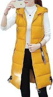 Macondoo Women Puffer Sleeveless Hoodie Down Jacket Winter Outwear Vest