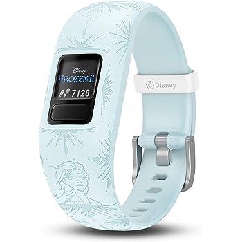 Garmin vivofit jr. 2, Kids Fitness/Activity Tracker, 1-Year Battery Life, Adjustable Band, Disney Frozen 2, Elsa, Light Blue