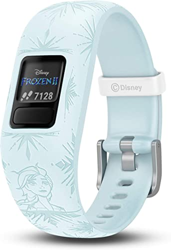 Garmin 010-01909-38 Vivofit Jr. 2, Kids Fitness/Activity Tracker, 1-Year Battery Life, Adjustable Band, Disney Frozen...