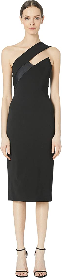 One Shoulder Pencil Dress with Asymmetrical Charme