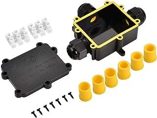 Bo/îtier de jonction /étanche IP68 noir bo/îtier de connecteur de c/âble en plastique /à 3 voies en forme de Y