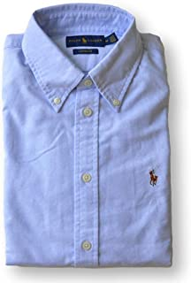 Polo Ralph Lauren Women's Custom Fit Oxford Button Down Shirt, Powder Blue, XS