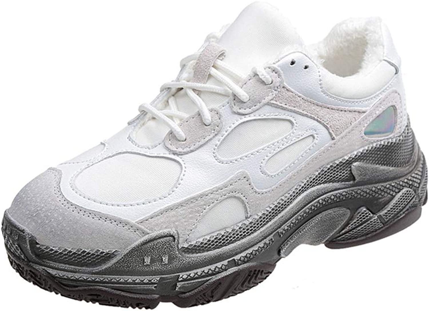 Women Fashion Dad Platform Chunky Sneakers Thick Sole Tenis Casual Walking shoes