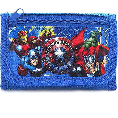 "Disney Marvel Avengers Blue Trifold Wallet - 1 WALLET, 4.75"" x 3.0"" Illinois"