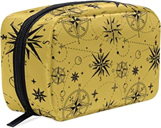 Cosmetic Bag Makeup Case Toiletry Pouch Wind Rose Compass