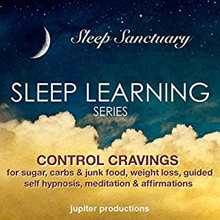 Control Cravings for Sugar, Carbs & Junk Food, Weight Loss audiobook cover art