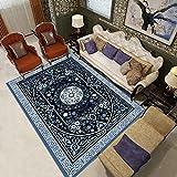 PatróN Persa Azul Alfombra Salon Grande 120x160cm Alfombra Moderno De Pelo Corto Home Alfombra Diseño 3D para Interior,Salon, Dormitorio, Cocina, Pasillo, Habitacion,Exterior
