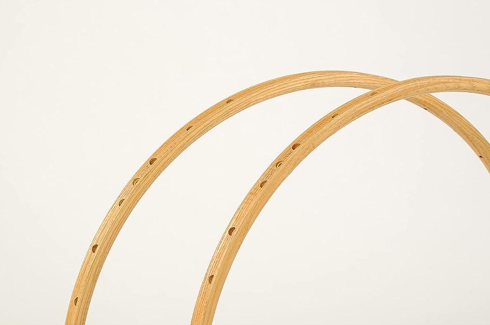 CBITALIA - ROUBAIX MODEL - bicycle wooden rims for tubular tires - Pair (#2 rims) - Vintage Holzfelgen