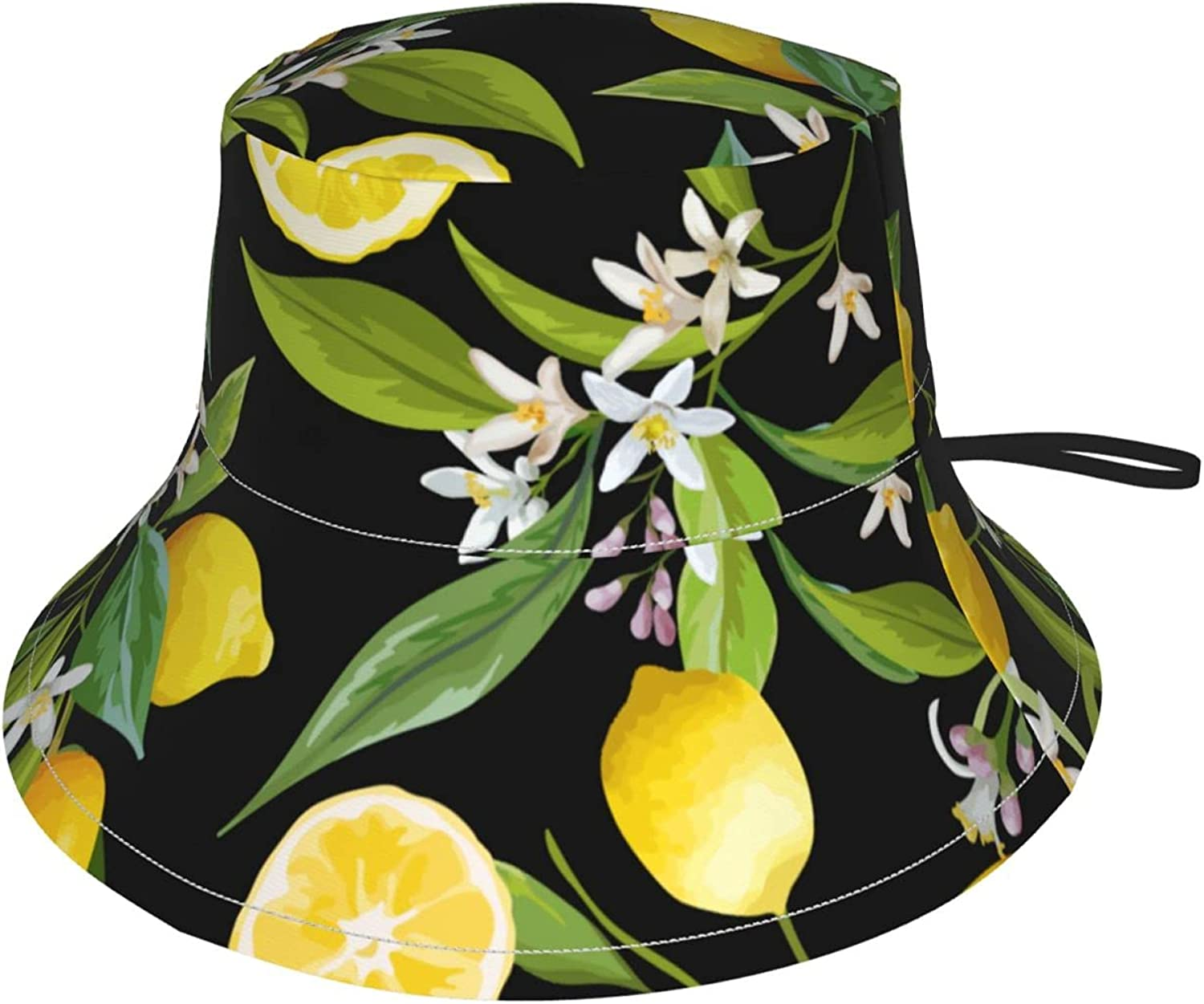Yellow Lemons Baltimore Mall Great interest Kids Bucket Hat Adjustable Sun Protection for Hats