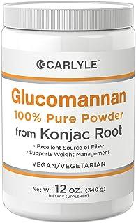 Carlyle Glucomannan Powder 12 oz from Konjac Root | Weight Loss Fiber | Vegan, Vegetarian, Non-GMO, Gluten Free