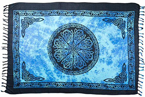 Turtle Island Imports Celtic Flower Sarong (Blue)