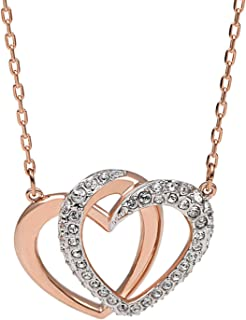 Sukkhi Crystals from Swarovski Gold Plated Twisted Heart Pendant for Women and Girls (P80718)