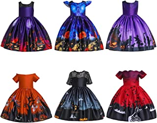 Kehen- Kid Halloween Costumes Little Girl Vintage Flared Swing Dress Cocktail Christmas Party Dresses