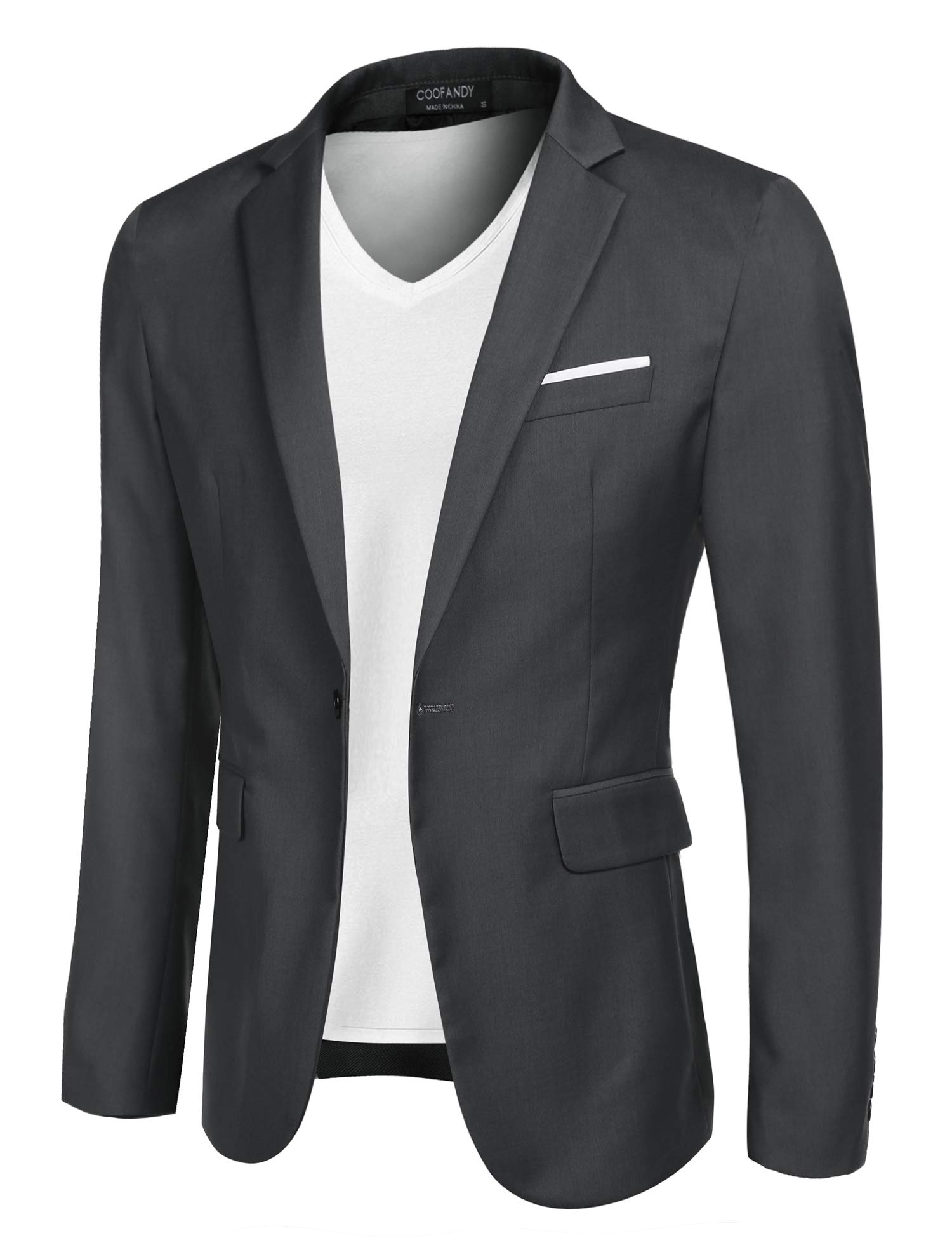 X-Future Mens Slim Big /& Tall Business 1 Button Casual Blazer Jacket Sport Coat