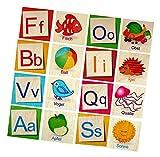 Hess Holzspielzeug 14918 - Memory Spiel aus Holz mit 52 Teilen, Buchstaben – ABC, für Kinder ab 3 Jahren, handgefertigt, Gedächtnistraining kombiniert mit fröhlichem Spielspaß