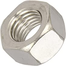 """18-8 Stainless Steel Hex Nut, Plain Finish, ASME B18.2.2, 1/4""""-28 Thread Size, 7/16"""" Width Across Flats, 7/32"""" Thick (Pack..."""