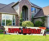 Happy Birthday Rock and Roll Banner, Rock Star Musical Birthday Party Sign, 1950s Classic Music Party Decorations (9.8 * 1.6 feet)
