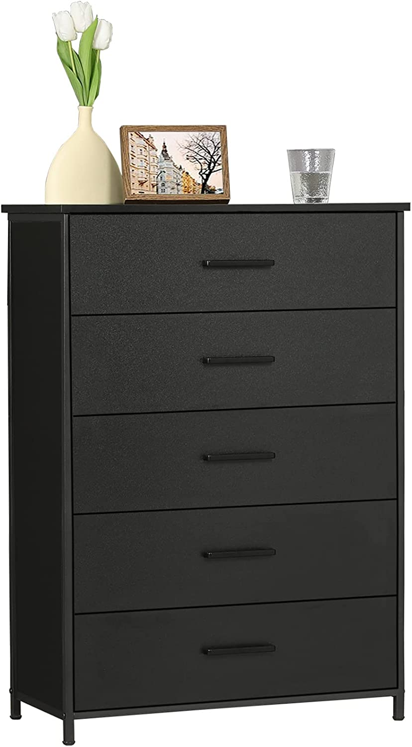 Hasuit 5 Drawer Wood Dresser Storage Clothes Max 43% OFF 5% OFF O Tower Industrial