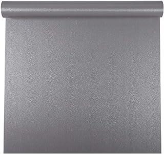 Autoadhesivo Gris cepillado Metal Acero inoxidable Película de vinilo Papel tapiz para lavavajillas Nevera Refrigerador Es...