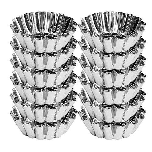 Menax - Flanero Individual Rizado en Aluminio - Set de 12 - Diámetro 8 cm