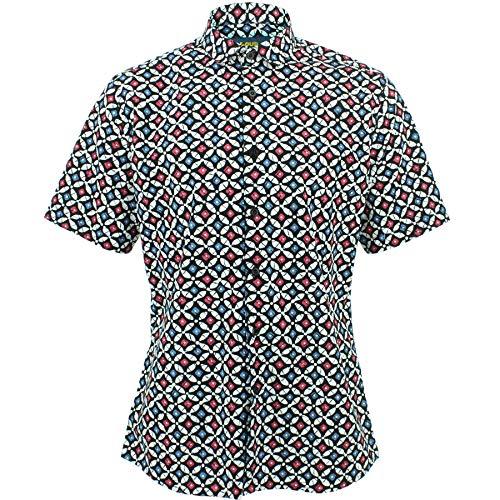 Loud Originals Enganliegend Hemd mit Kurzem Arm - Bowling - Bowling Pins, 17.5