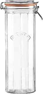 Kilner Facetted Clip Top Glassware Jar, Airtight Seal for Pickling, Preserving, and Storing, 74-1/2-Fluid Ounces