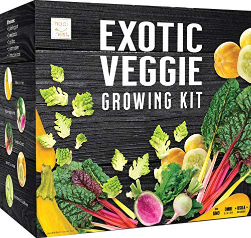 Exotic Vegetable Indoor Garden Seed Starter Growing Kit - USDA Organic...