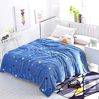 Autumn and Winter Coral Fleece Blanket Warm Sheets Flannel Blanket Microfiber Soft Fabric Moisture Absorbing Breathable Active Printing and Dyeing Small Crown 180200cm