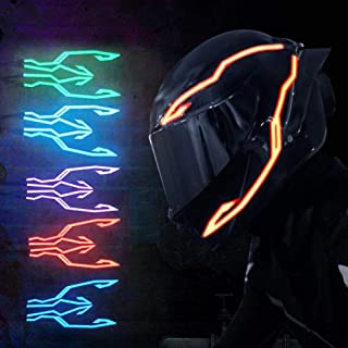 BLJS Motorrad Lichtleiste, Motorrad Helm Licht, Neue Upgrade Lichtleiste LED Nachtsignal Licht Blinkstreifen Motorrad Blinker Kit Für Nachtfahrten Wasserdicht,Grün