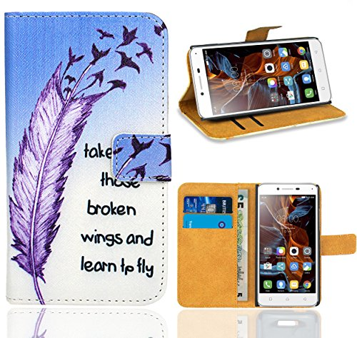 FoneExpert® Lenovo K5 Handy Tasche, Wallet Hülle Flip Cover Hüllen Etui Ledertasche Lederhülle Premium Schutzhülle für Lenovo K5