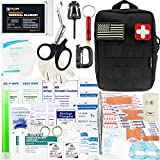 Falcon Medi-Tac 200 Pieces First Aid Kit IFAK Survival Kit Molle Compatible Pouch, Emergency Kit...