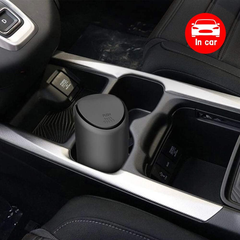 100/% Waterproof Automotive and Bedroom Organizer Garbage Can for Vehicle Bedroom Fiexco Car Trash Can Black Mini Silicone Car Accessories with lid and Office